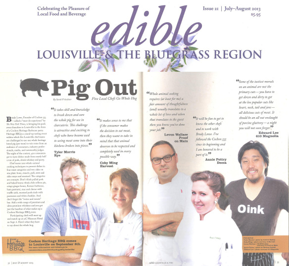 Cochon555, featured in Edible Louisville